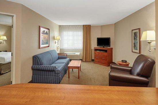 Aurora, IL: One Bedroom Suite living area