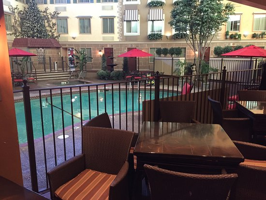 White Bear Lake, MN: tables by pool