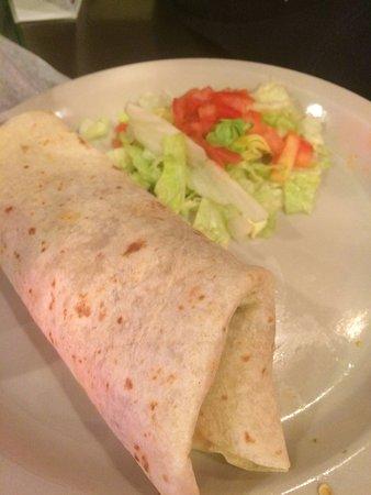 Tacos Garcia : Beef fajita burrito with green peppers and onions