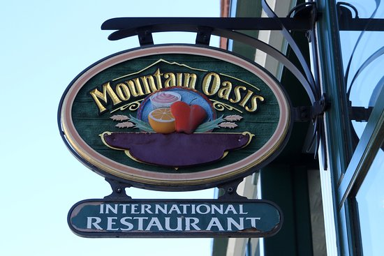 Mountain Oasis - Sign Out Front - January 2017