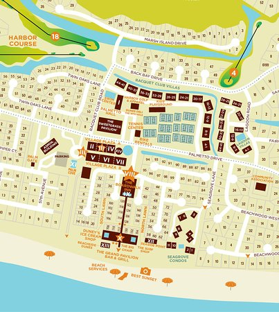 Wild Dunes Resort Map | compressportnederland