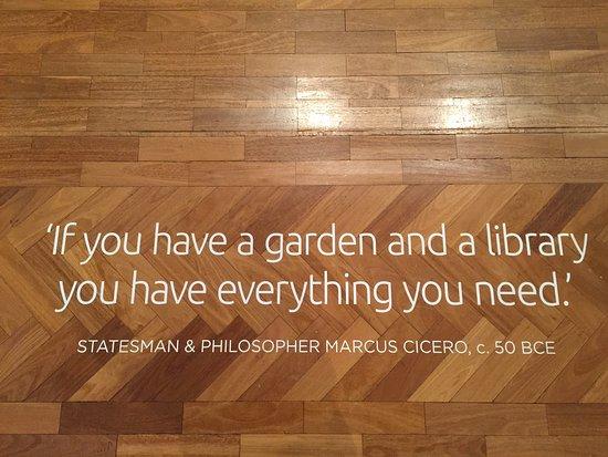 Text On The Floor Planting Dreams Grand Garden Designs Exhibition