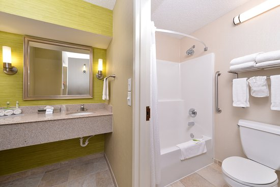 Holiday Inn Express Hotel & Suites Indianapolis W - Airport Area: Guest Bathroom