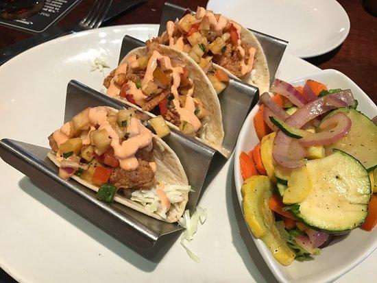 Firebirds Wood Fired Grill: Street shrimp tacos.
