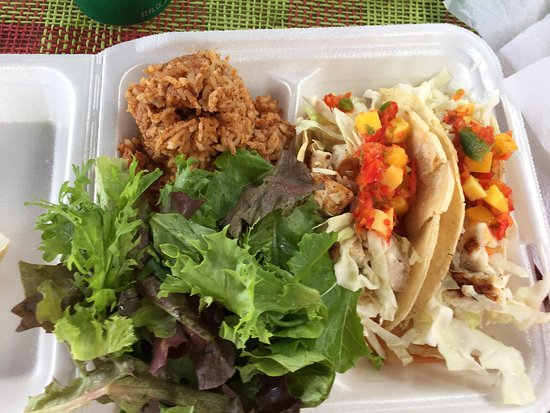 Kaunakakai, Havaí: Steak & Shrimp, Ono tacos & salad