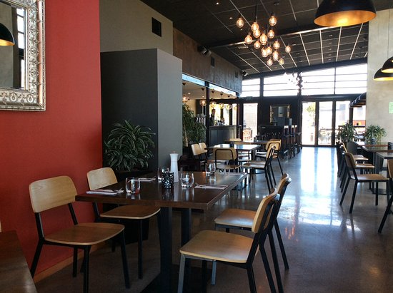 view from front of gusto towards the back and outside seats picture of gusto restaurant bar. Black Bedroom Furniture Sets. Home Design Ideas