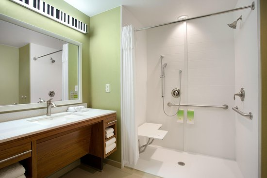 Accessible Bathroom with RollIn Shower Picture of Home2 Suites – Accessible Bathroom