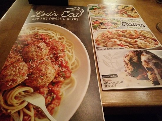 Menu Booklets Picture Of Olive Garden Palmdale Tripadvisor