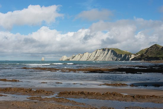 Hawke's Bay Region, New Zealand: walking along the beach towards to cape kidnappers