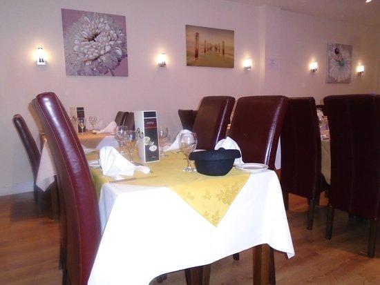 Shera Indian Cuisine Dining Area