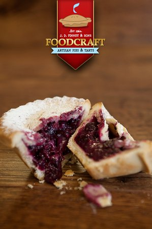 Winsford, UK: Foodcraft's own and hand-made from scratch Blackcurrant Tart