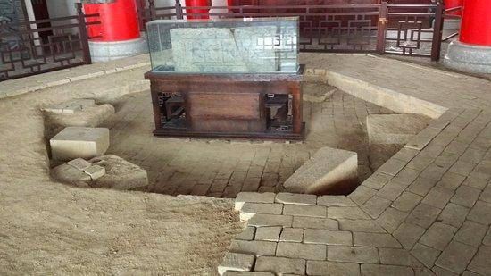Shaoguan, China: 古韶關樓之地基