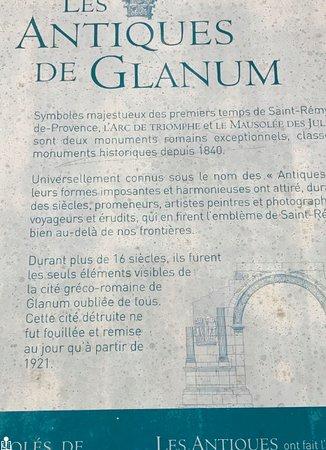 Saint-Remy-de-Provence, France: good informative plaques