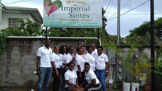 Bon Accord, Tobago: Sports team at Imperial Suites