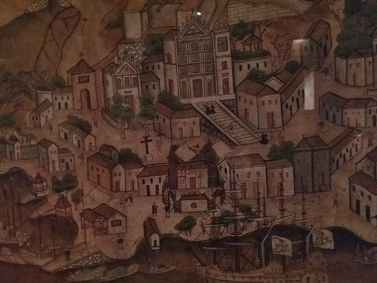 Hong Kong Maritime Museum: Detail of Macau from the Gentiloni paintings