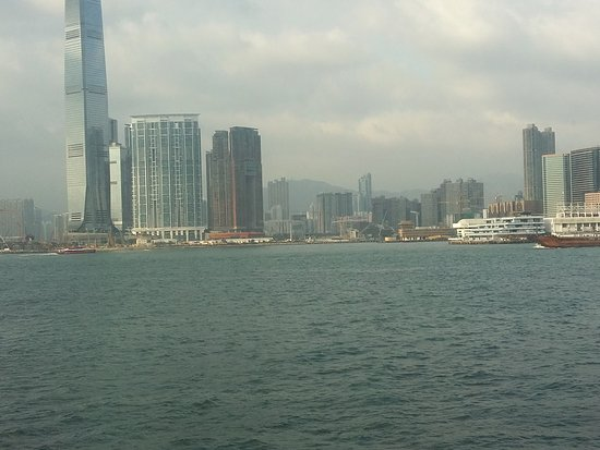 View from the viewing deck of the Hong Kong Maritime Museum