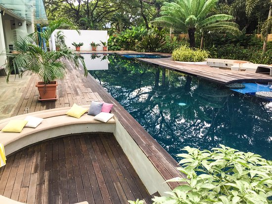 What to do in Puerto Princesa - Shows the pool area of Canvas Boutique Hotel