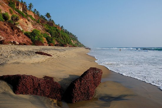 Varkala SeaShore Beach Resort: Strand - Southcliff