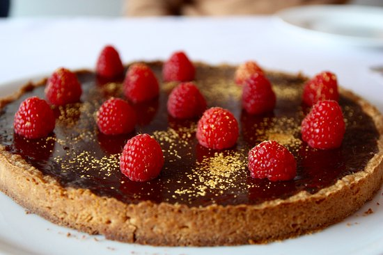 A World in A Pan: Chocolate pie with fresh raspberries