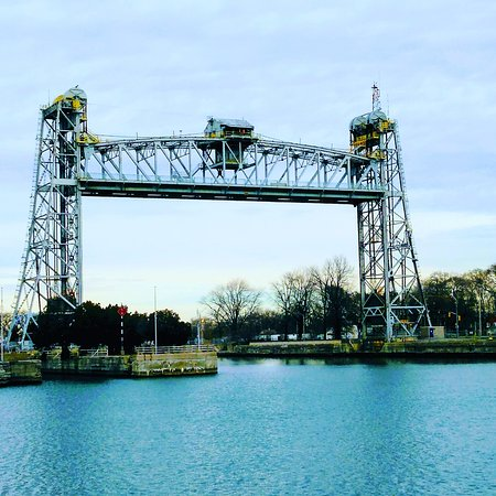 Lift Bridge & House, Lock 8, Welland Canal, Port Colborne, Ontario (at Lake Erie)