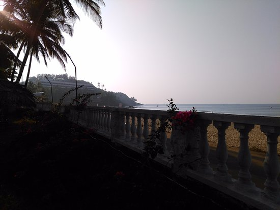A view of the Beach from the Compound Wall