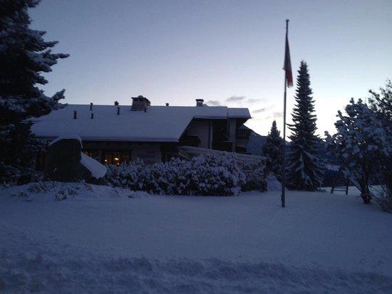 Alvaneu, Schweiz: Winterimpression