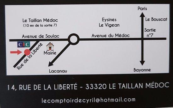 Le Taillan-Medoc, Prancis: Plan d'accès pour nous trouver