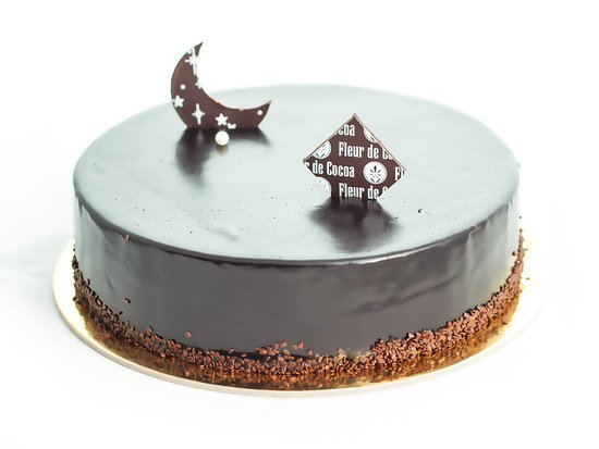 Los Gatos, CA: One of our specialty French mousse cakes.