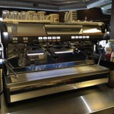 Holt, MI: The super espresso machine. Nuova Siminelli brand, from Italy.
