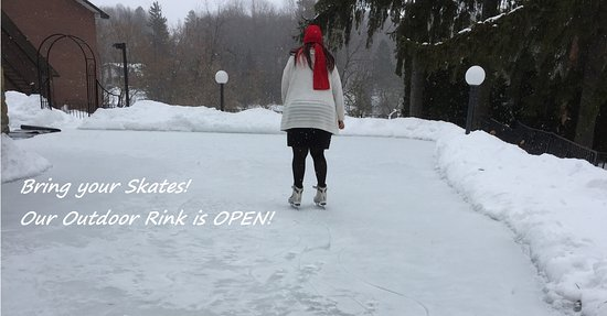 Ramada Ottawa On The Rideau : Our outdoor Skating Rink is Now open . Weather permitting.