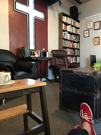 Goodland, KS: A renovated old church, turned used book store and coffee lounge