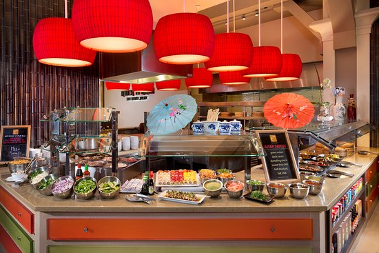 Fresh Harvest: Sushi, Noodles & Dim Sum - Asian specialty items, traditional soups, salads and pho.