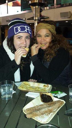 The Cosmopolitan Casino: Hotdog, tiny makes the bun look huge. Chips were soggy.