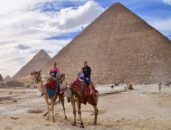 Real Egypt Day Tours: our camel ride next to the great pyramid