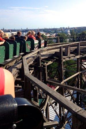 Linnanmaki Amusement Park : Ride in the Linnanmäki roller coaster