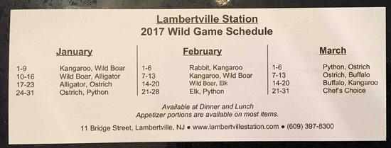 Lambertville, NJ: 2017 Game Schedule