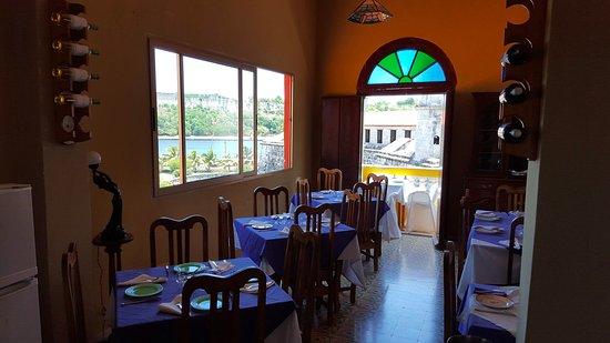 La Giraldilla Restaurante U0026 Tapas Bar: Traditional Cuban Furniture And  Original Stained Glass Windows.