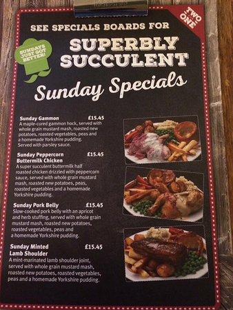 Yate, UK: Sunday specials