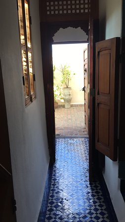 Dar Sienna: view from bedroom to part of lower roof terrace