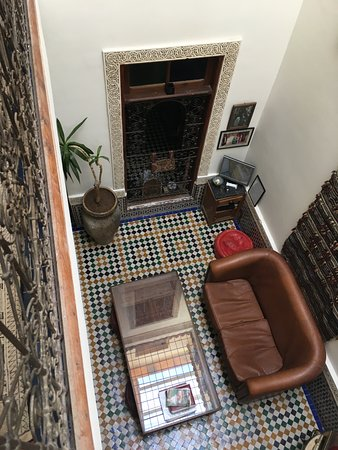 Dar Sienna: view down to sitting room