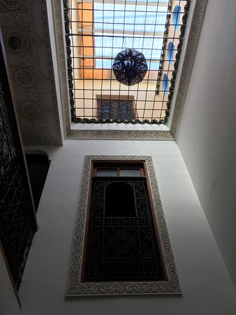 Dar Sienna: view looking up from sitting room