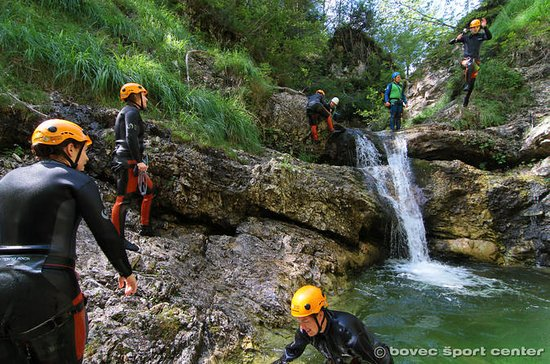 Canyoning in the Susec Canyon of the...
