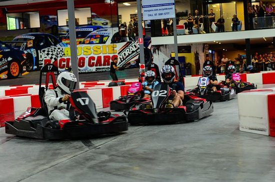 Indoor Go-Kart Racing at Game Over on...