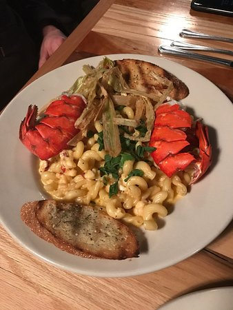Marcellus, MI: Salmon and lobster mac 'n cheese