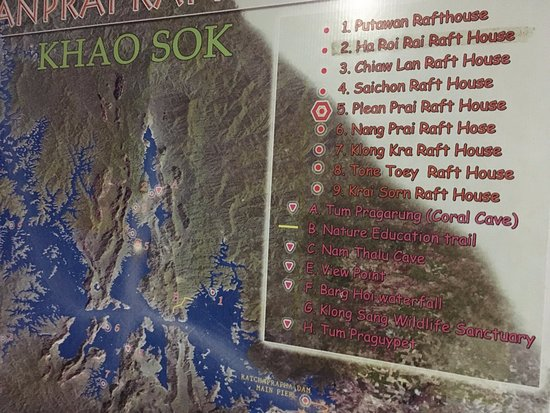 Surat Thani, Thailand: Cheow Lan Lake map