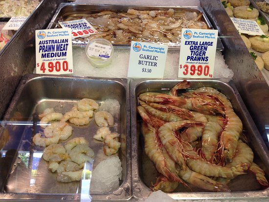 Sunshine Coast, Austrália: fresh prawns and wild caught seafood right off the boat