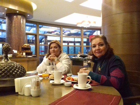 Surmeli Istanbul: having delicious breakfast