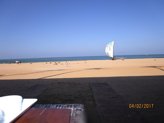Jetwing Sea: View from the table of the restaurant during breakfast