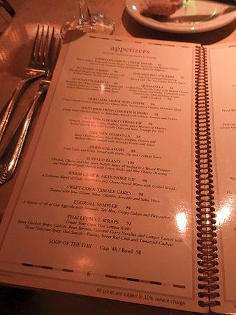 menu - Picture of The Cheesecake Factory (Disneytown ...