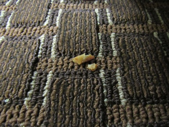 Brookville, PA: Pretzel pieces on floor